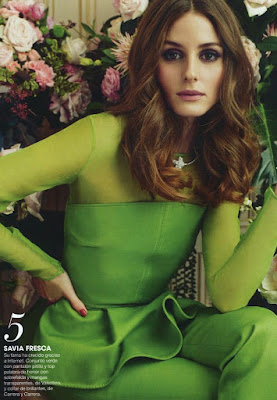 Оливия Палермо в зеленом платье