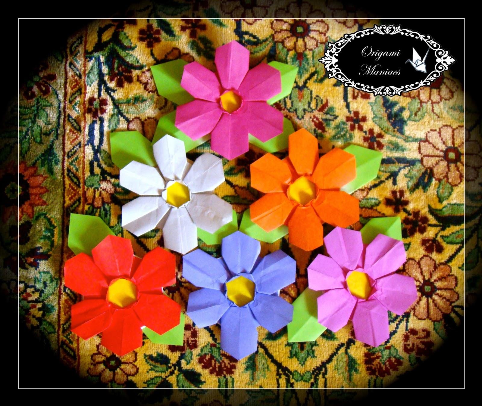 Origami Maniacs: Flor de Origami de 6 Petalos