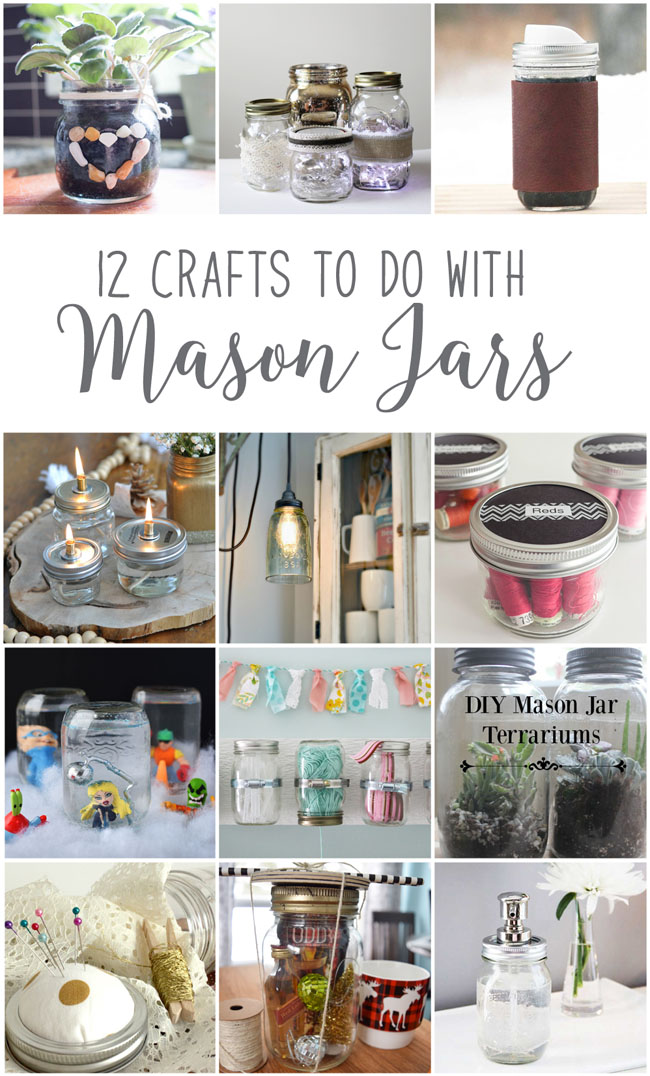 12 Crafts To Do With Mason Jars, from 12 Canadian decor & lifestyle bloggers. Follow along on Instagram #12monthsofdiy to get involved. #crafts #ideas #masonjars #projects #diy #ideas