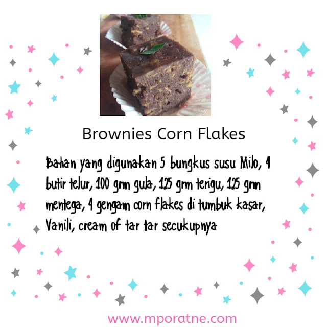 Resep mudah brownies Corn Flakes