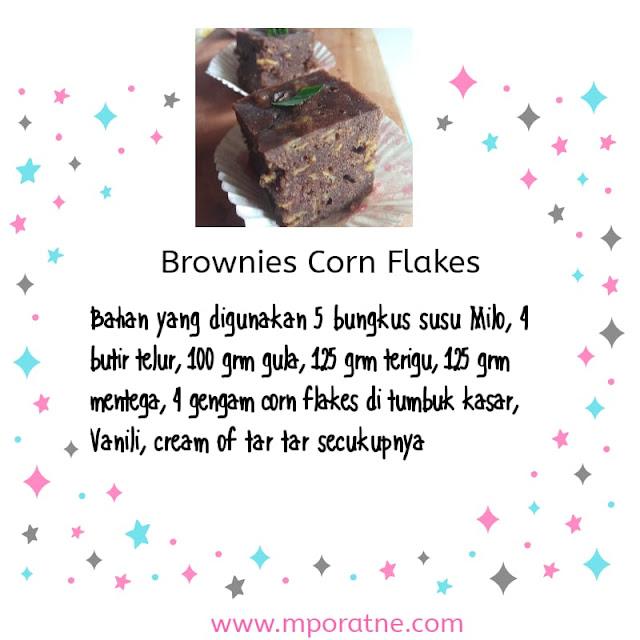 Resep mudah brownies Corn Flakes