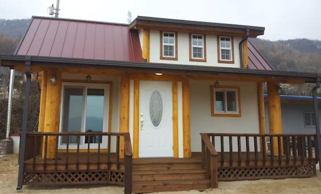 Rumah Kayu Minimalis Gaya Korea