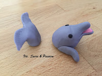 Fondant Dolphin for cake