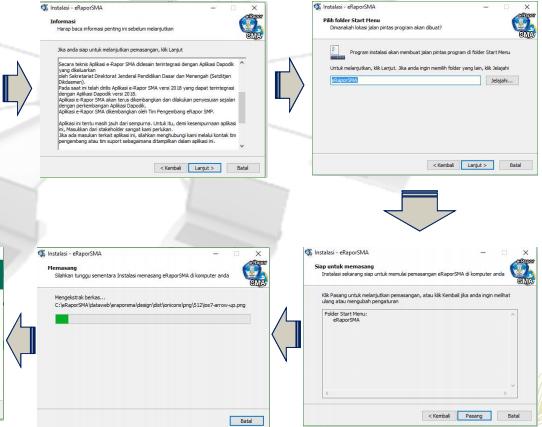 gambar cara install aplikasi rapor SMA versi 2018