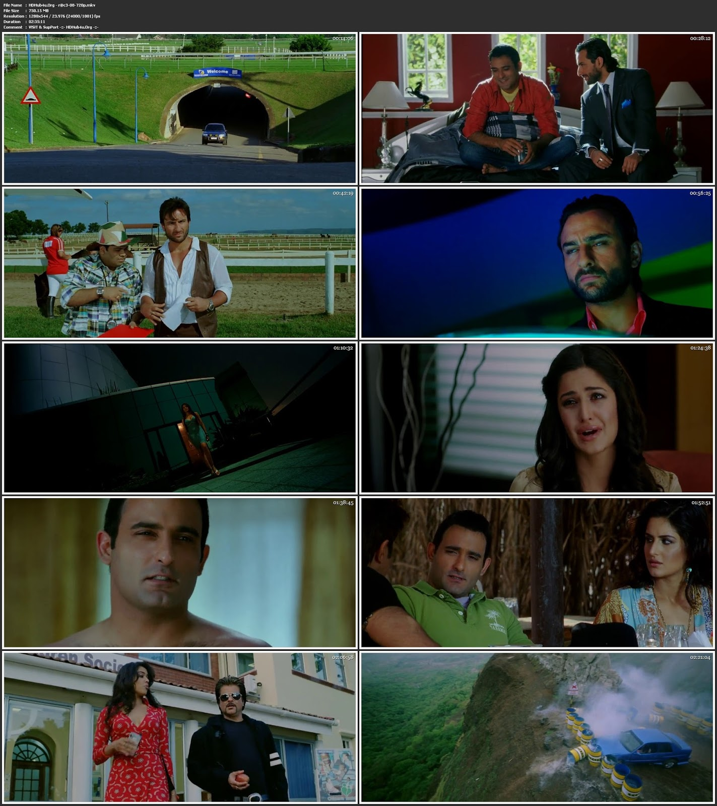 Race 2008 Hindi Movie 480p BRRip 450MB Download