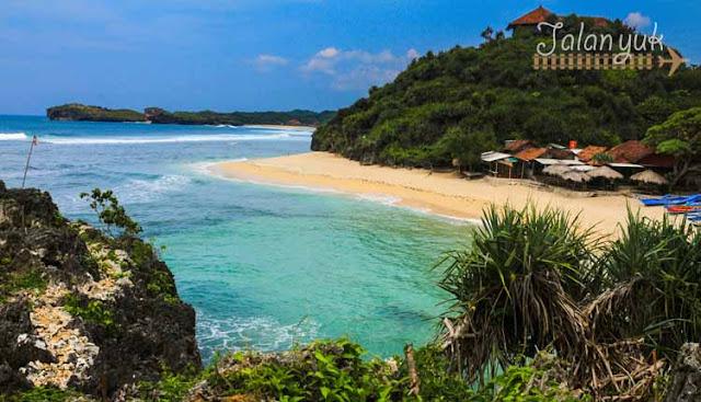 pantai di gunung kidul - pantai ngandong