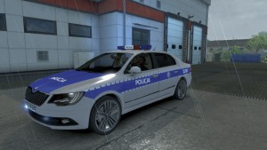 Polish Police Skoda Superb