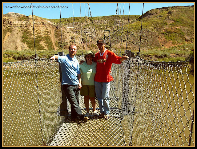Rosedale suspension bridge, Drumheller Alberta, things to do in Alberta