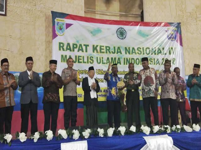 Dominggus Mandacan dan Ma'ruf Amin Buka Rakernas MUI IV 2018