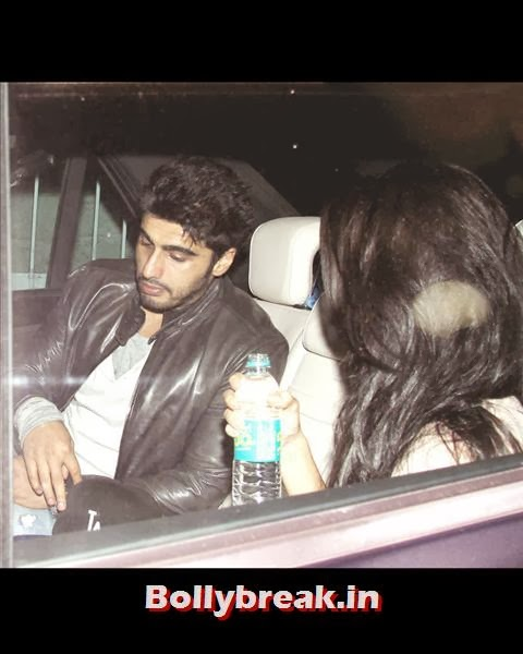 Arjun Kapoor, who always gives credit to Salman Khan for his acting career, came down with a mystery girl to wish the superstar on his birthday!, Salman Khan Birthday bash Pics