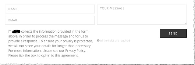 GDPR contact form checkbox - blogger guide