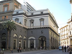 The Teatro San Carlo is close to the centre of  Naples, near Piazza Plebiscito