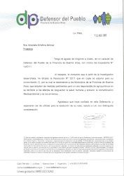 Recomendación Defensor del Pueblo de Bs As por el caso Mercedes