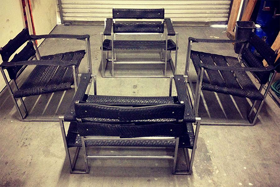 Desain kursi minimalis dari ban bekas