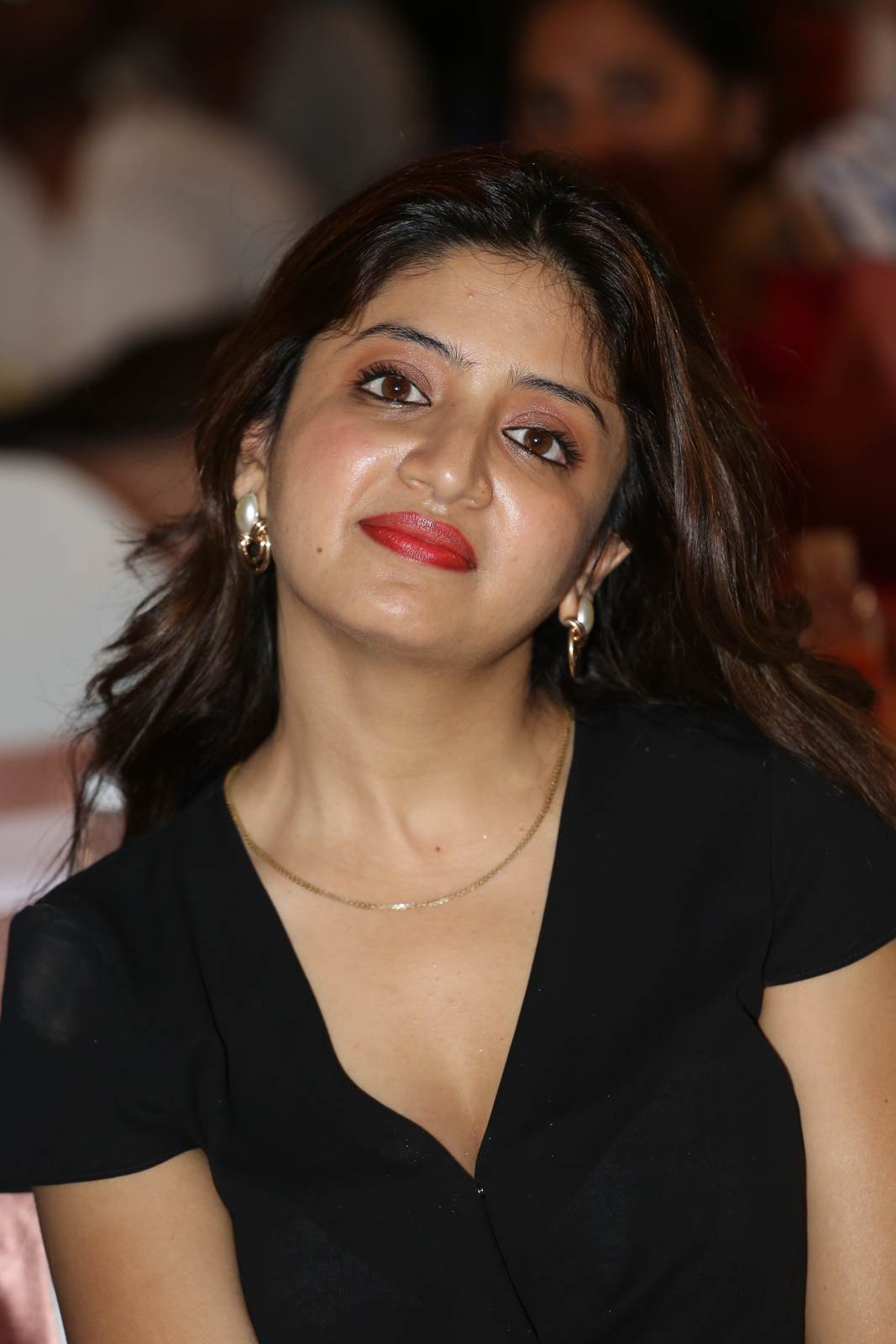 High Quality Poonam Kaur Pics, Poonam Kaur hot Pics in black Dress from 365 Days Movie Audio Launch