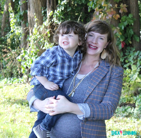 Fall plaid outfit ideas for mom and toddler boy | www.shealennon.com