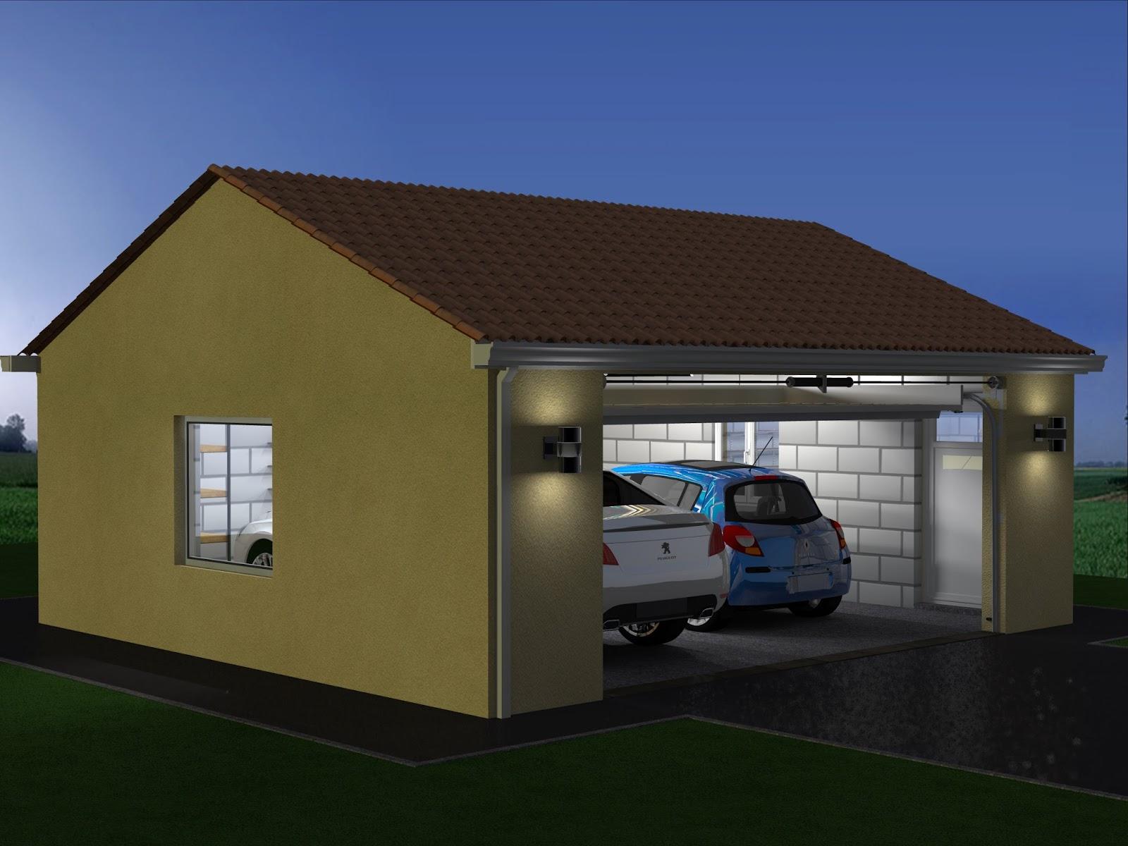 projet de construction de garage double. Black Bedroom Furniture Sets. Home Design Ideas