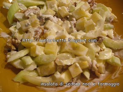 Insalata di sedano noci e formaggio