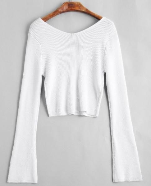 Zaful White Cozy Fall Sweaters