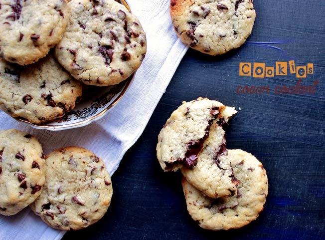 recette cookies coeur coulant