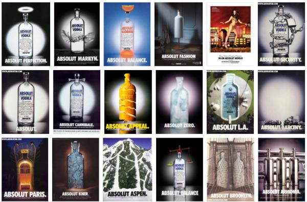 Nos anos 80, Absolut Vodka não era exatamente o que é hoje. Só tinha 2,5 por cento do mercado de vodka e vendia cerca de 10 mil garrafas.