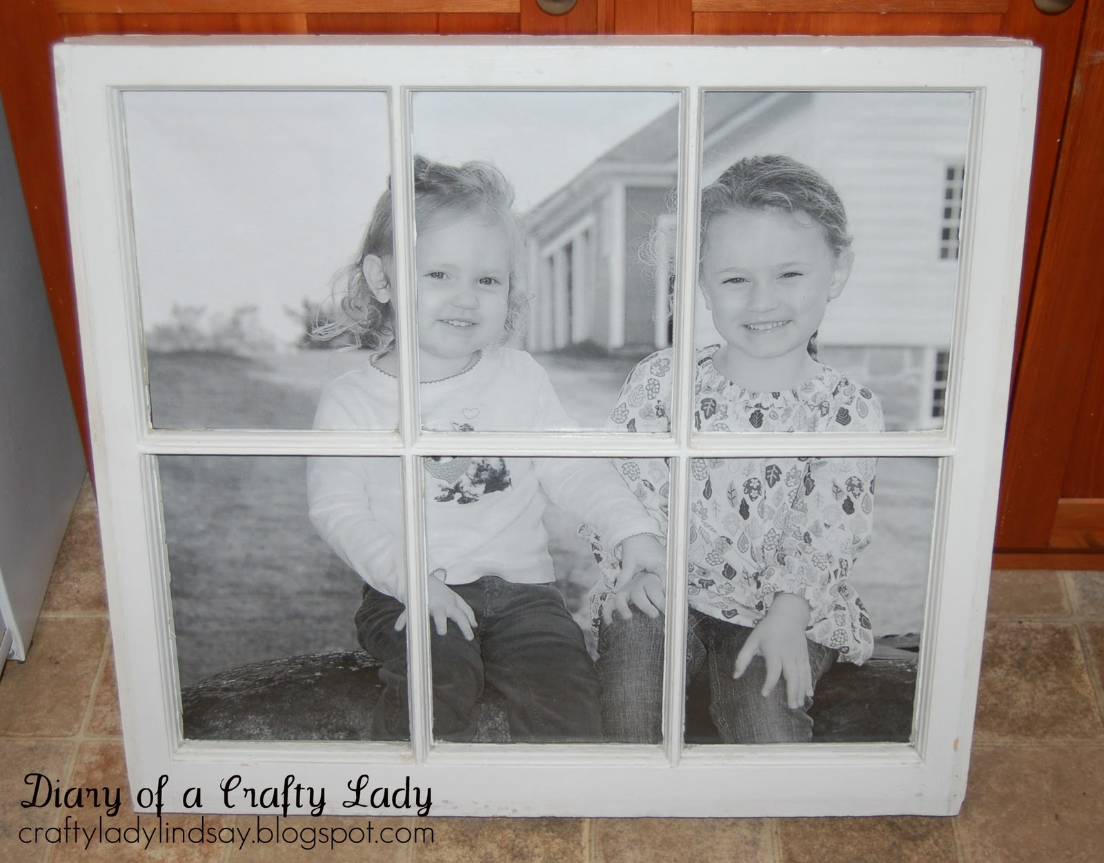 diary of a crafty lady old window big picture - Window Picture Frame Ideas