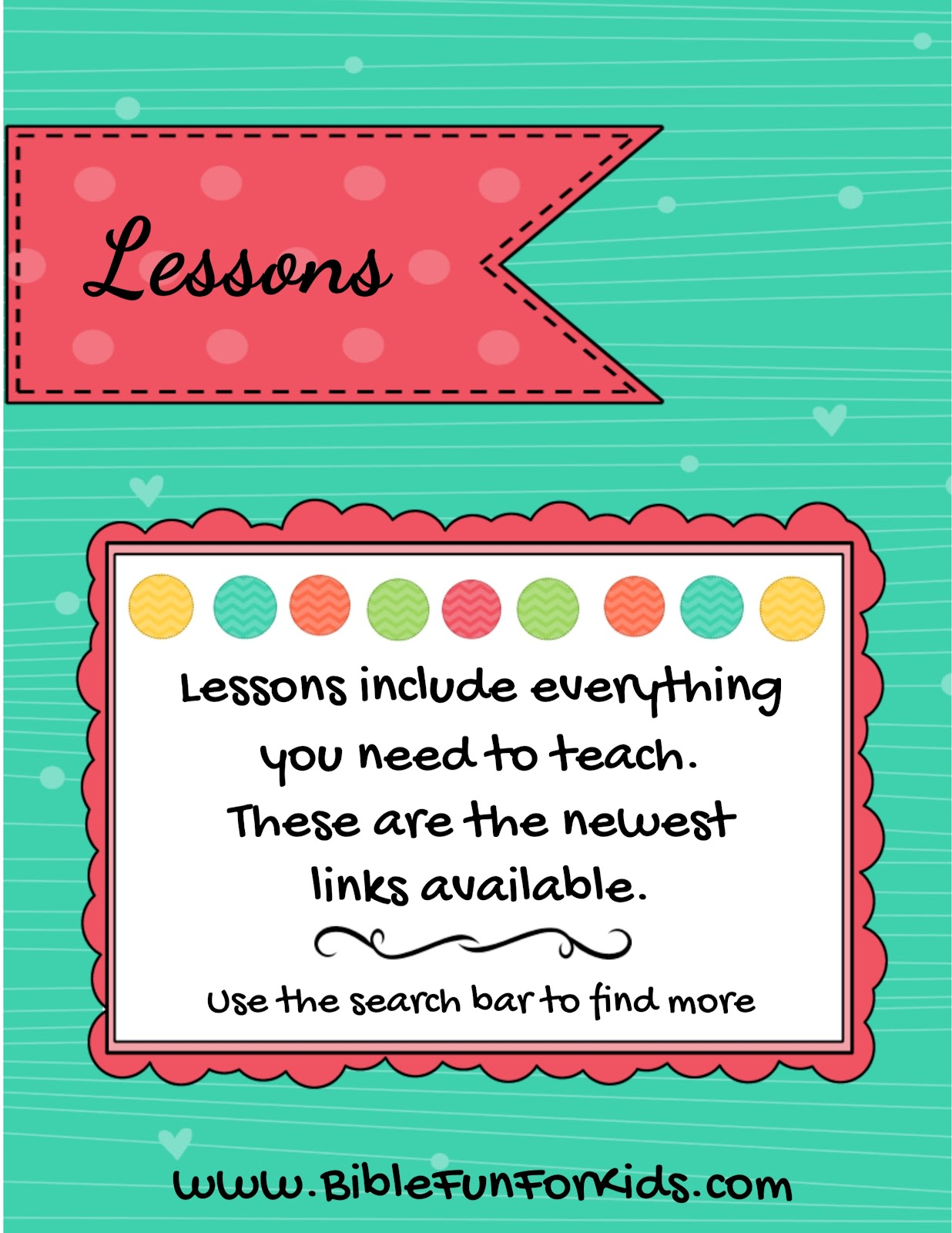 Bible Fun For Kids Lesson Links