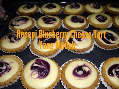 Resepi Blueberry Cheese Tart Yang Mudah