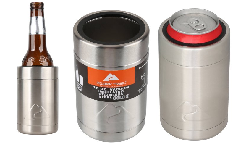 f64a46eee43 2 Pack 12oz. Ozark Trail Vacuum Insulated Can Cooler $5.76 or One For $3.88  + Free Store Pickup at Walmart. 12-oz vacuum insulated can cooler keeps  drinks ...