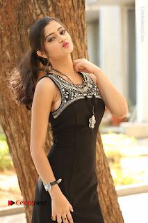 Actress Poojitha Pallavi Naidu Stills in Black Short Dress at Inkenti Nuvve Cheppu Movie Platinum Disc Function  0105.JPG