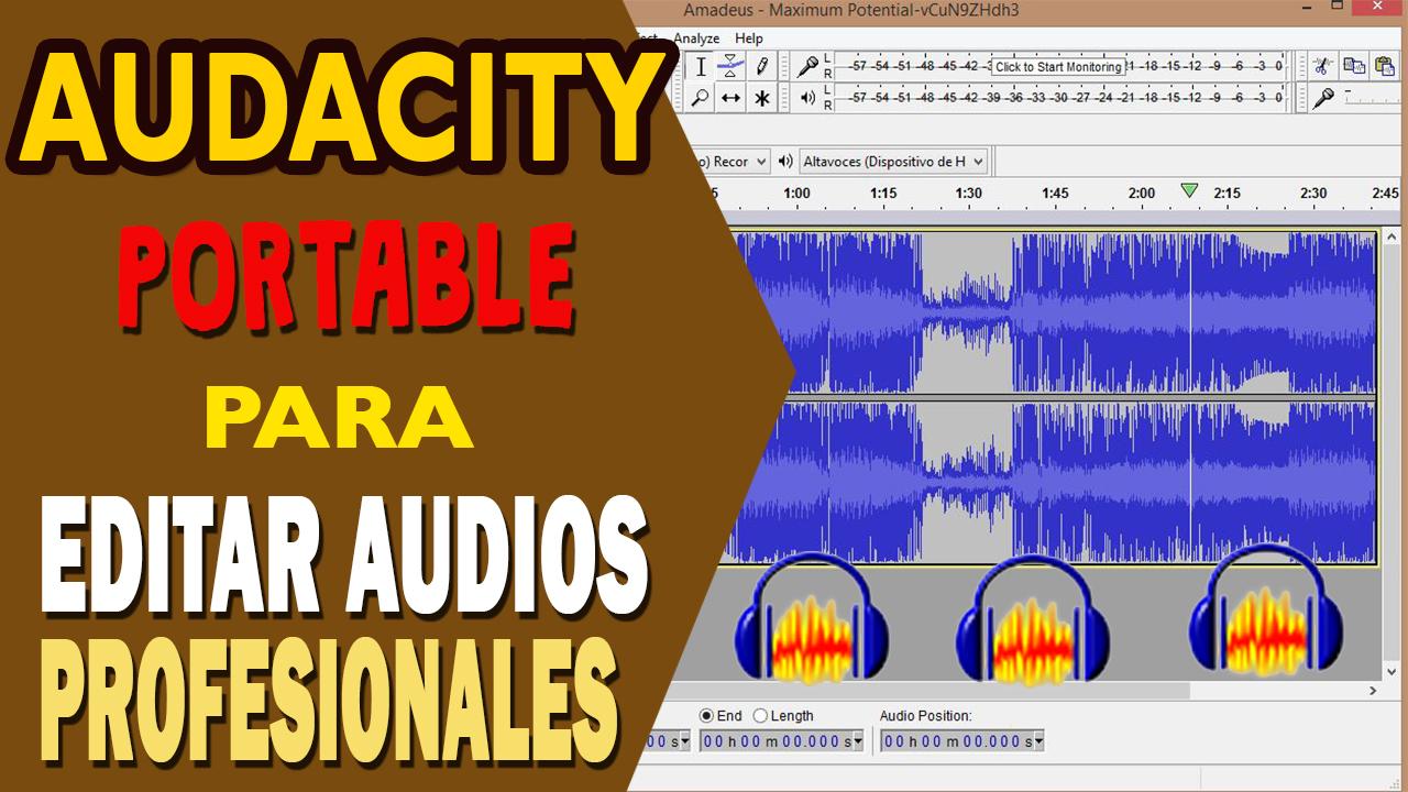 Edita audios como un profesional con Audacity portable