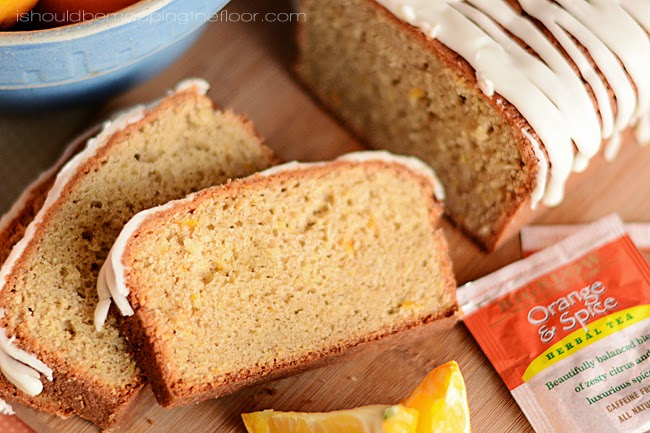 Orange and Spice Pound Cake | Infused with tea and butter...and deliciousness! | The perfect holiday treat of breakfast.