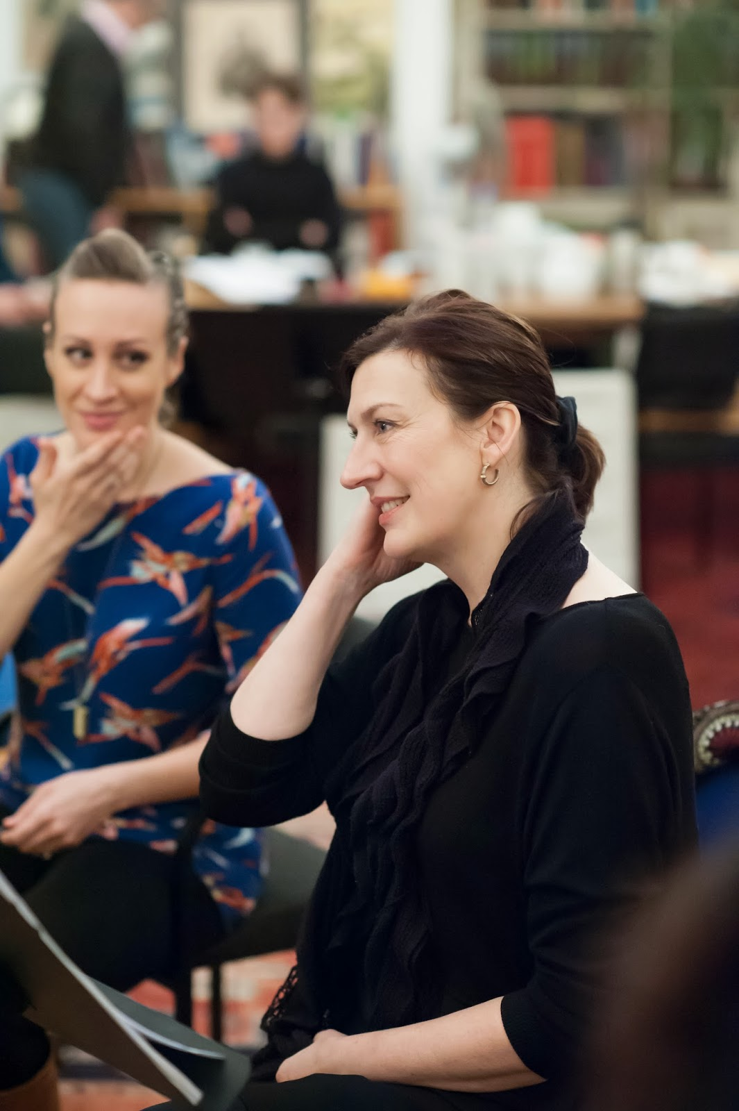 Brenda Rae & Sarah Connolly in rehearsal for Offenbach's Fantasio at Opera Rara's studio (Photo Russell Duncan)