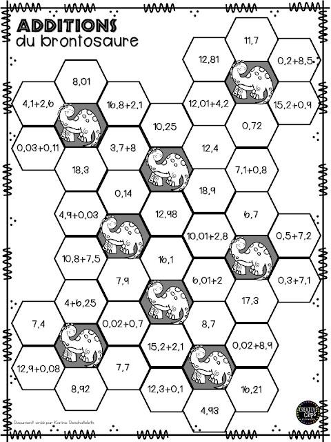 La classe de karine jeux de maths - Table de valeur mathematique ...
