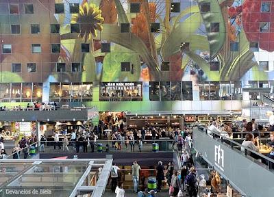 Holanda - Mercado de Rotterdam Markthal