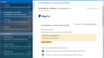 Cara Daftar Commhubb Dapat Uang $20