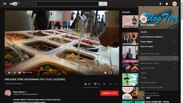 YouTube yeni tasarım, Dark Theme