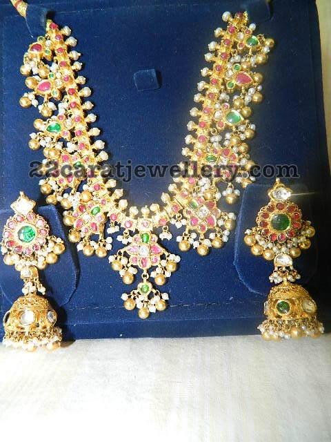 Gutta Pusala Necklace 130 Grams Jewellery Designs