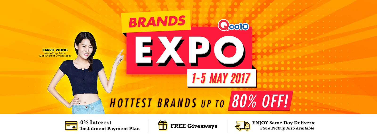3964ea4252a ... off its biggest sale yesterday with the inaugural online Expo Sale,  scheduled to run from today to 5th May 2017. The online shopping festival sees  Qoo10 ...