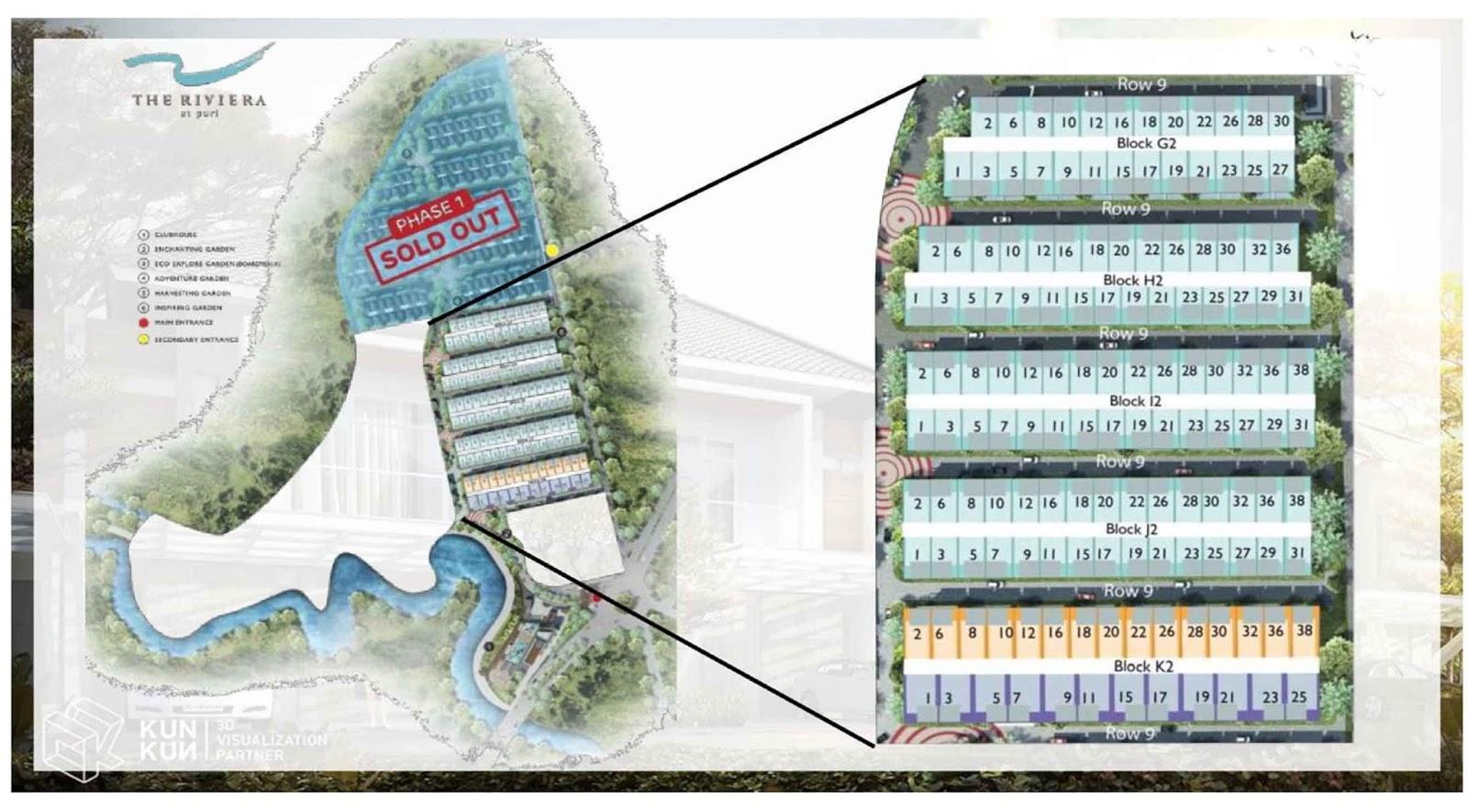 siteplan the riviera at puri tahap phase 2
