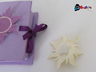 personalizza scatolina libricino per tema rapunzel