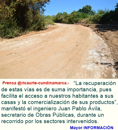KIT DE MAQUINARIA AMARILLA RECUPERA VÍAS RURALES EN RICAURTE