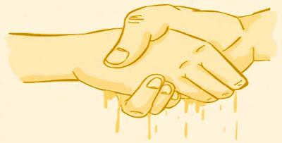 aperto de mãos