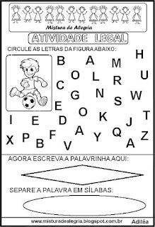 Atividade legal de alfabetização J
