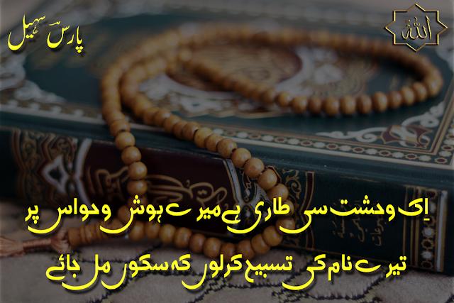 Ik Wehshat Si Taari Hai Mere Hosh-o-Hawas Par - Two Lines Islamic Poetry by Paaris Sohail