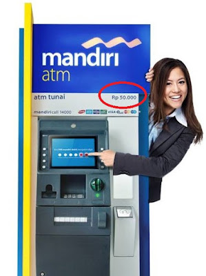 ATM Bank Mandiri pecahan Rp.50.000