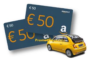 Logo Lenti & Vincenti: acquista e vinci 113 Buoni Amazon e Fiat 500 Cabrio