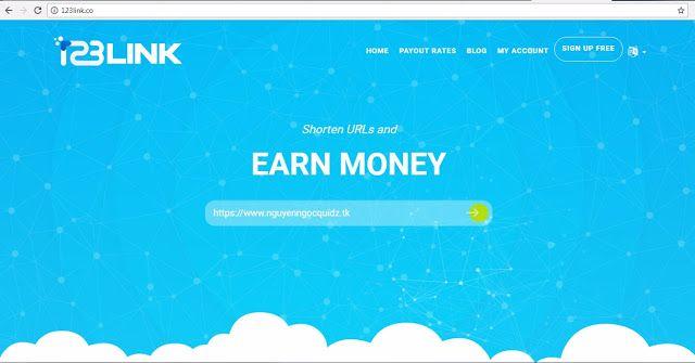 Kiếm tiền với link rút gọn 123link uy tín hàng tại Việt Nam