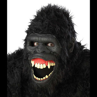 Deluxe ANIMOTION APE GORILLA LATEX MASK-Full Head-Mouth Lips MOVE