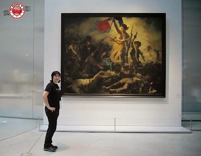 La libertad guiando al pueblo, en el Museo Louvre-Lens